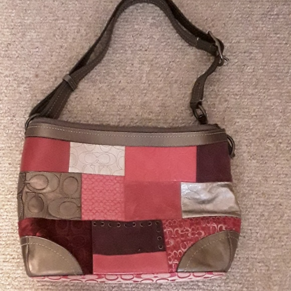 Coach Handbags - Coach patchwork multicolored hobo bag. Authentic